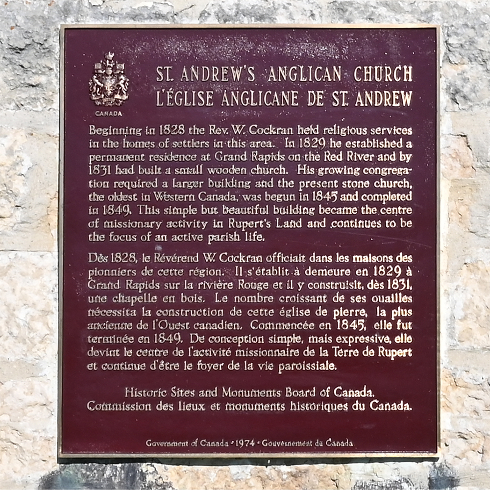 St. Andrews Plaque closeup